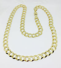 "26""10K Yellow Gold Curb Link Men's Chain GSJYGCL27"
