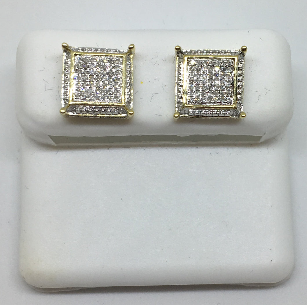 10K Men's Yellow Gold Fancy Earrings MCSC0349YGSJ