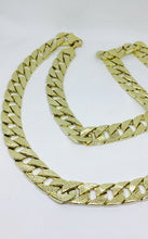"32"" 10K Yellow Gold One Sided Diamond Cut Curb Link Men's Chain GSJYGDCCL32"