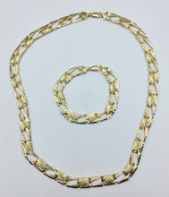 10K Yellow Gold Greek Key Pattern Curb Link One Sided Diamond Cut Chain 10YGGKDCRG24