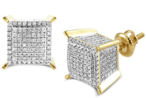 Mens 10KY 1.00ctw Diamond Dice Earrings SC4848YAGGSJ