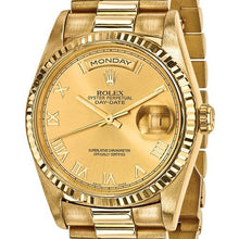 Certified Pre-owned Rolex 18ky Mens Day-Date Presidential Watch CRX100QGGSJ