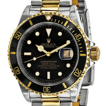 Certified Pre-owned Rolex Steel/18ky Mens Submariner Black Dial Watch CRX125QGGSJ