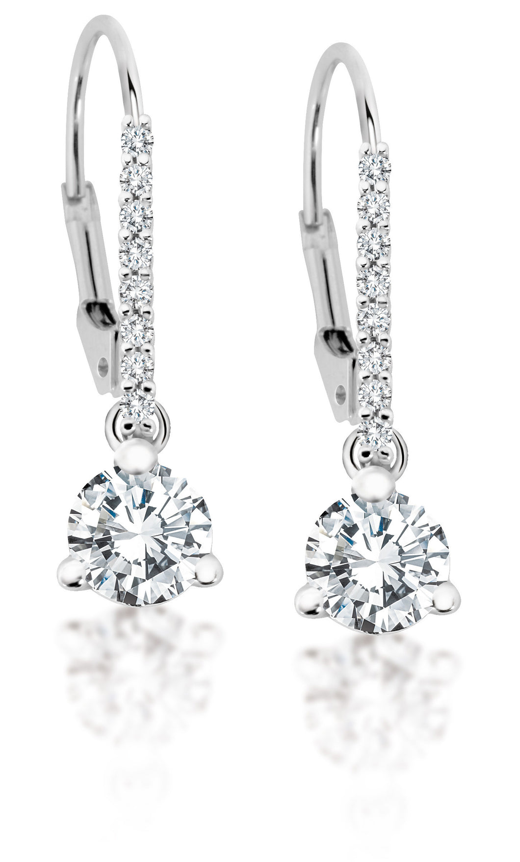 14Kt White Gold Canadian Diamond Drop Earrings
