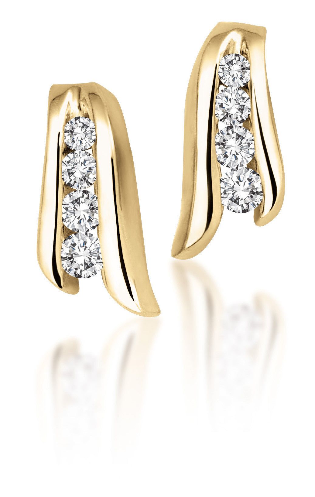 10Kt Yellow Gold Diamond Earrings