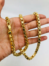 10kt Yellow Gold Super Box Link Men's Chain