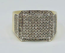 Men's 10kt Yellow/White Gold And 1.00CT TWD Diamond Ring-16265-R121590