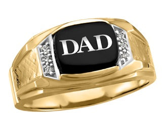 10kt Yellow Gold Men's Dad Ring