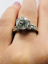 One Ladies White Gold And Diamond Engagement Ring