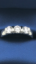Platinum 3 stone past present future Ring.( Sold)