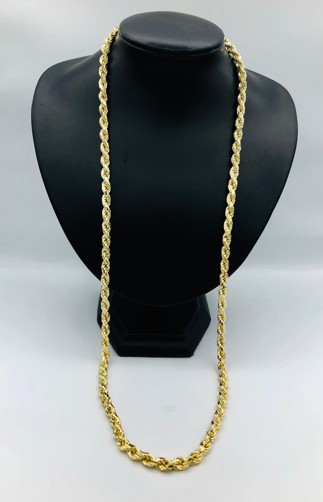 Men's 10kt Yellow Gold Rope Chain