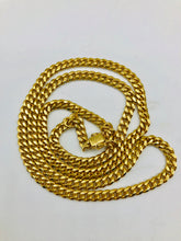 Men's 10kt Yellow Gold Cuban Link Chain