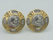 10kt white and yellow gold Versace earrings