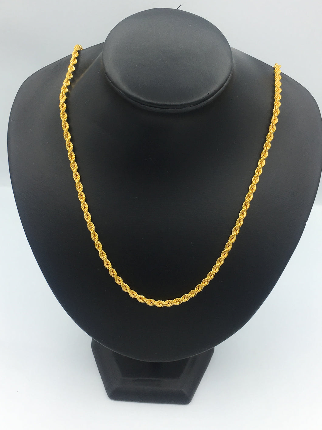 22kt Yellow Gold Rope Chain