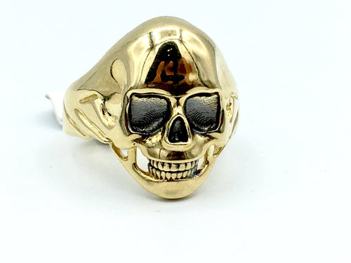 10kt Yellow Gold Skull Ring