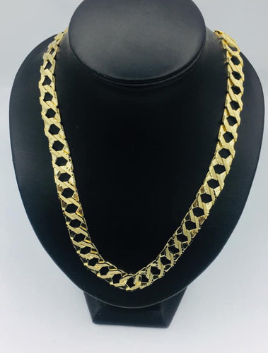 10k Yellow Gold Diamond Cut Men's Chain