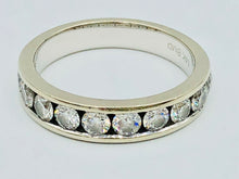 14kt White Gold And Diamond Wedding Band (Sold)