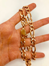 Men's 10kt Rose Gold Figaro Chain