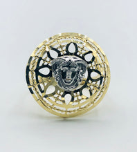 10kt Yellow Gold And White Gold Versace Ring