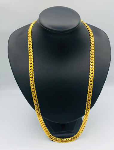 Men's 22kt yellow gold Cuban link chain