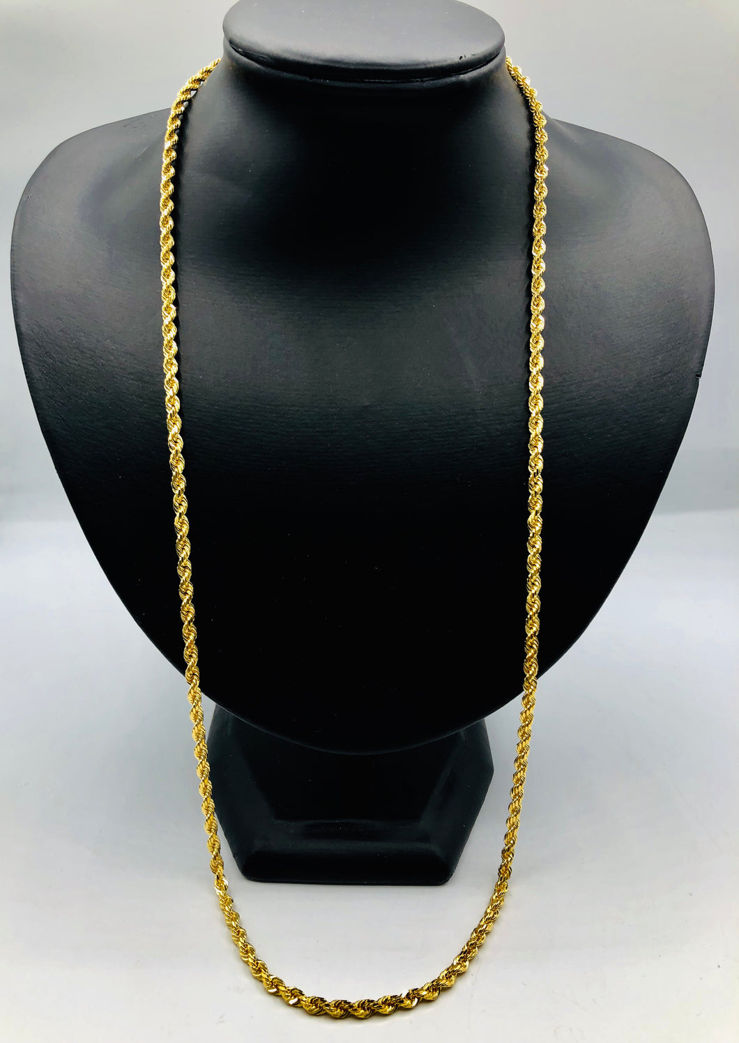 10kt Yellow Gold Rope Chain