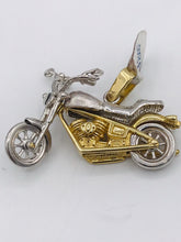 10kt yellow mens gold Harley Davidson Motor Bike Pendant