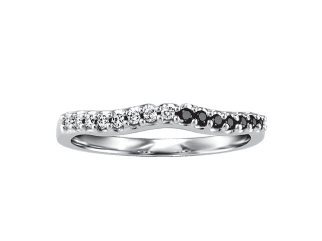 14k white gold wedding band CDN2166/W-14KDOUPG-13