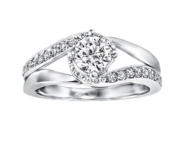19k white gold Engagement Ring CWB2213/70-19KDOUPG14