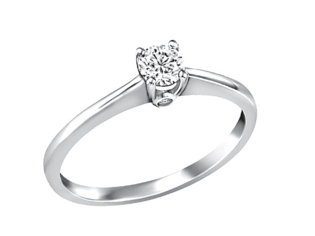 14K White Gold Engagement Ring CAD2342/23-14KDOUPG19