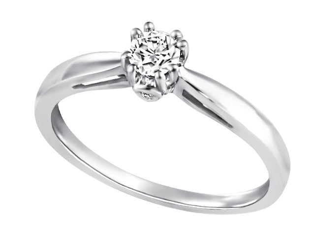 14K White Gold Engagement Ring CAD2365/24-14KDOUPG19