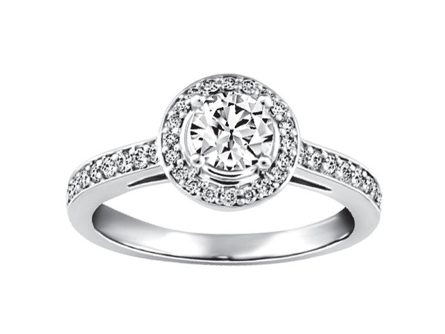 19kt White Gold Halo Engagement Ring CWB2366/50-19KDOUPG15