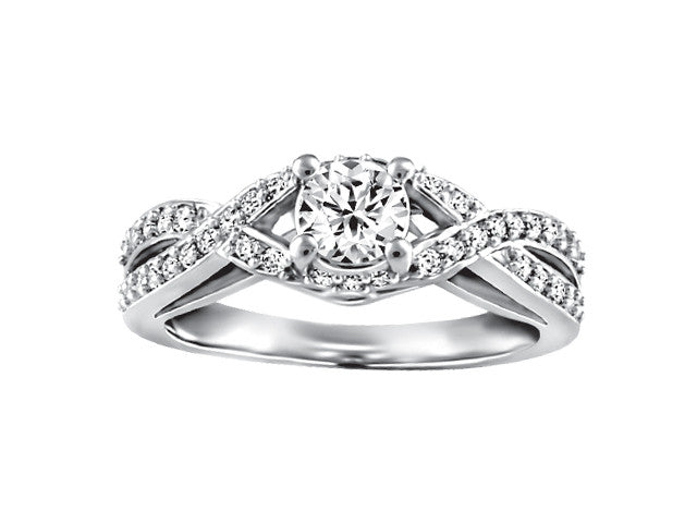 19K White Gold Engagement Ring CWB2368/35-19KDOUPG15