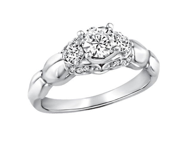 19K White Gold Engagement ring CND2411/50-19KDOUPG15