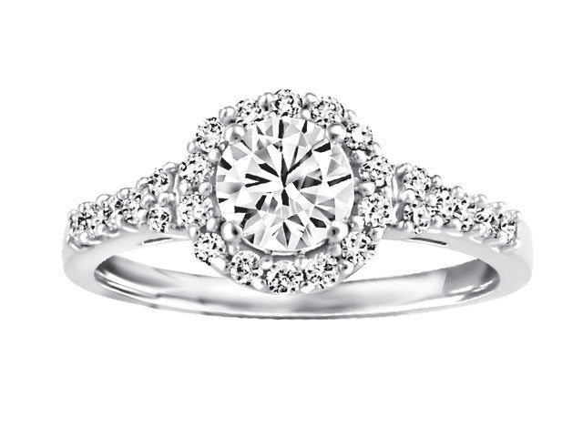 19kt White Gold Halo Engagement Ring CWB2425/60-19KDOUPG15