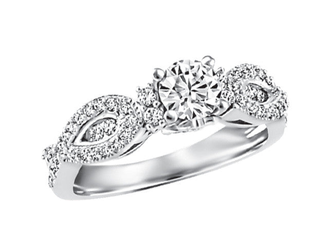 19K White Gold Ring CWB2428/50-19KDOUPG15