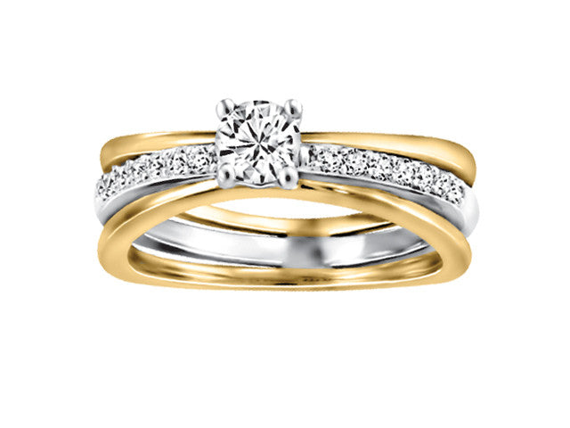 14K Two tone Engagement Ring CAD2449/30-14KDOUPG2