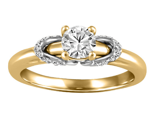 14K yellow gold emgagement ring CAD2457/40-14KDOUPG19