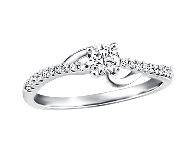 14K White Gold Engagement Ring CAD2459/23DOUPG19