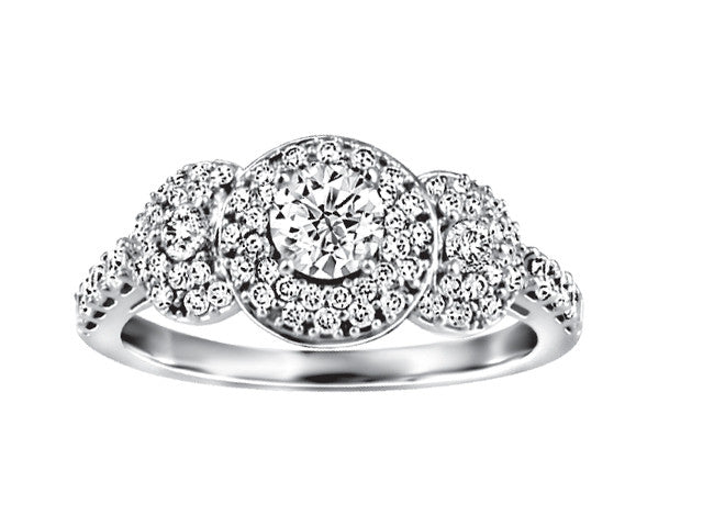 19K White Gold Ring CWB2481/50-19KDOUPG14