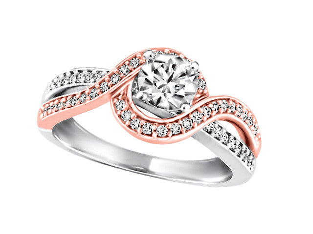 Two Tone Smart & Elegant Diamond Engagement Ring CWB2486/50-19w/14p dof p8