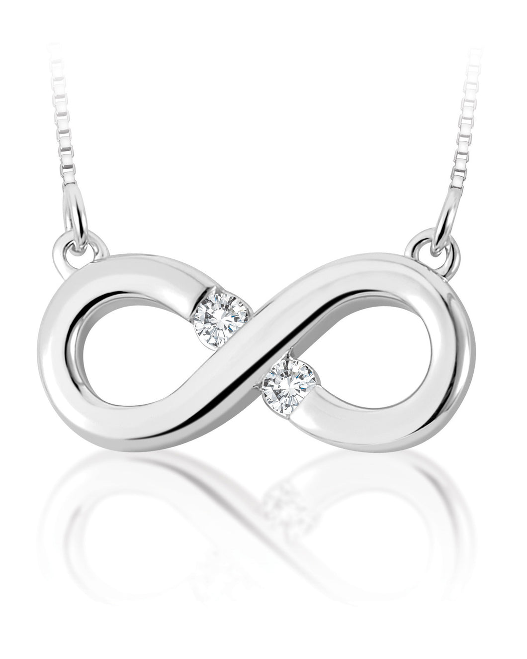 White Gold Canadian Diamond Infinity Pendant