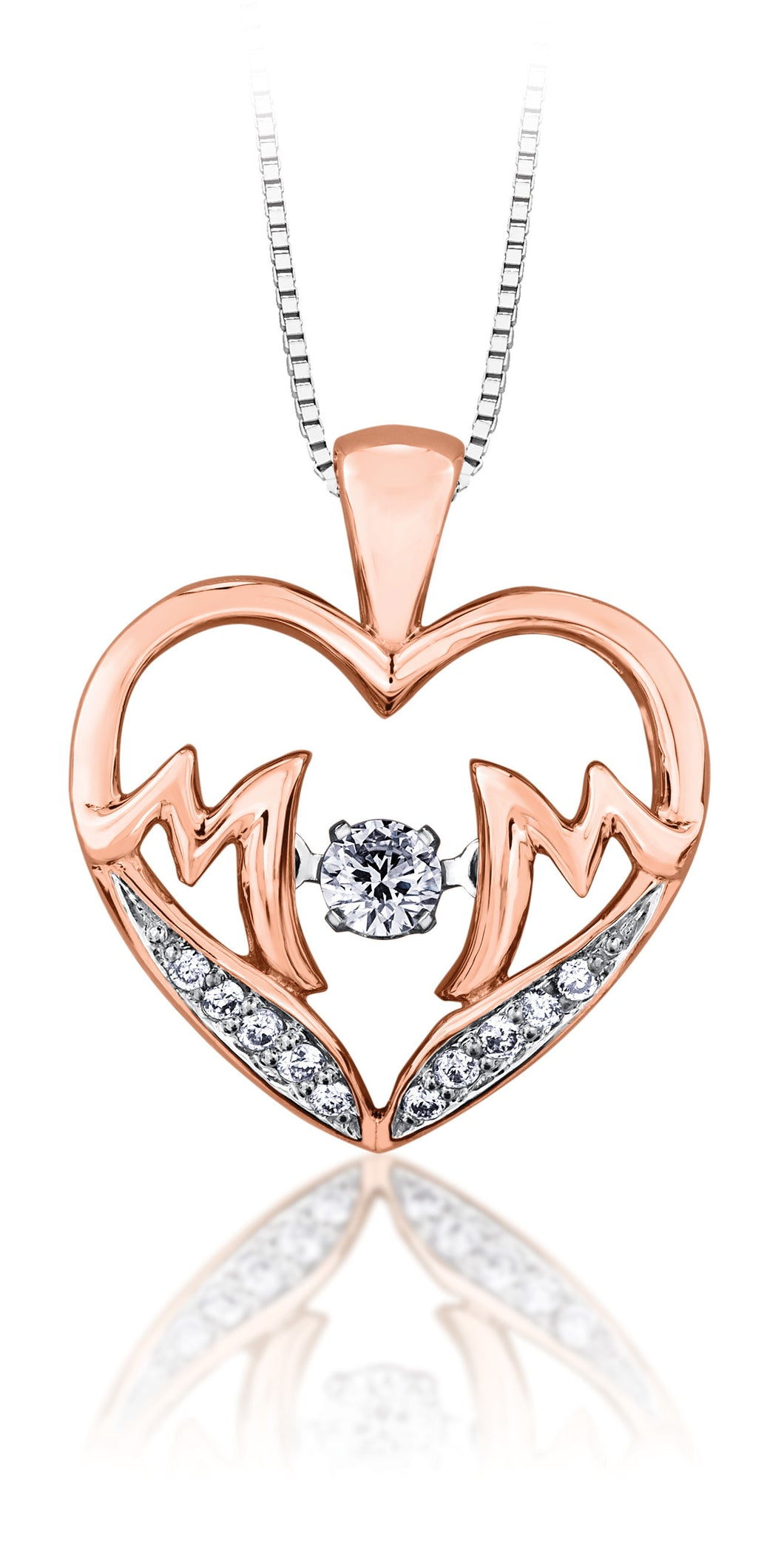 10Kt Rose Gold Diamond Mom Pendant
