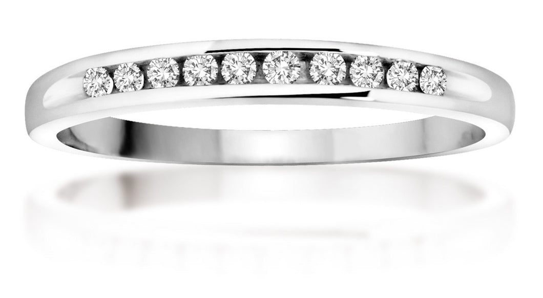 10Kt White Gold Diamond Band