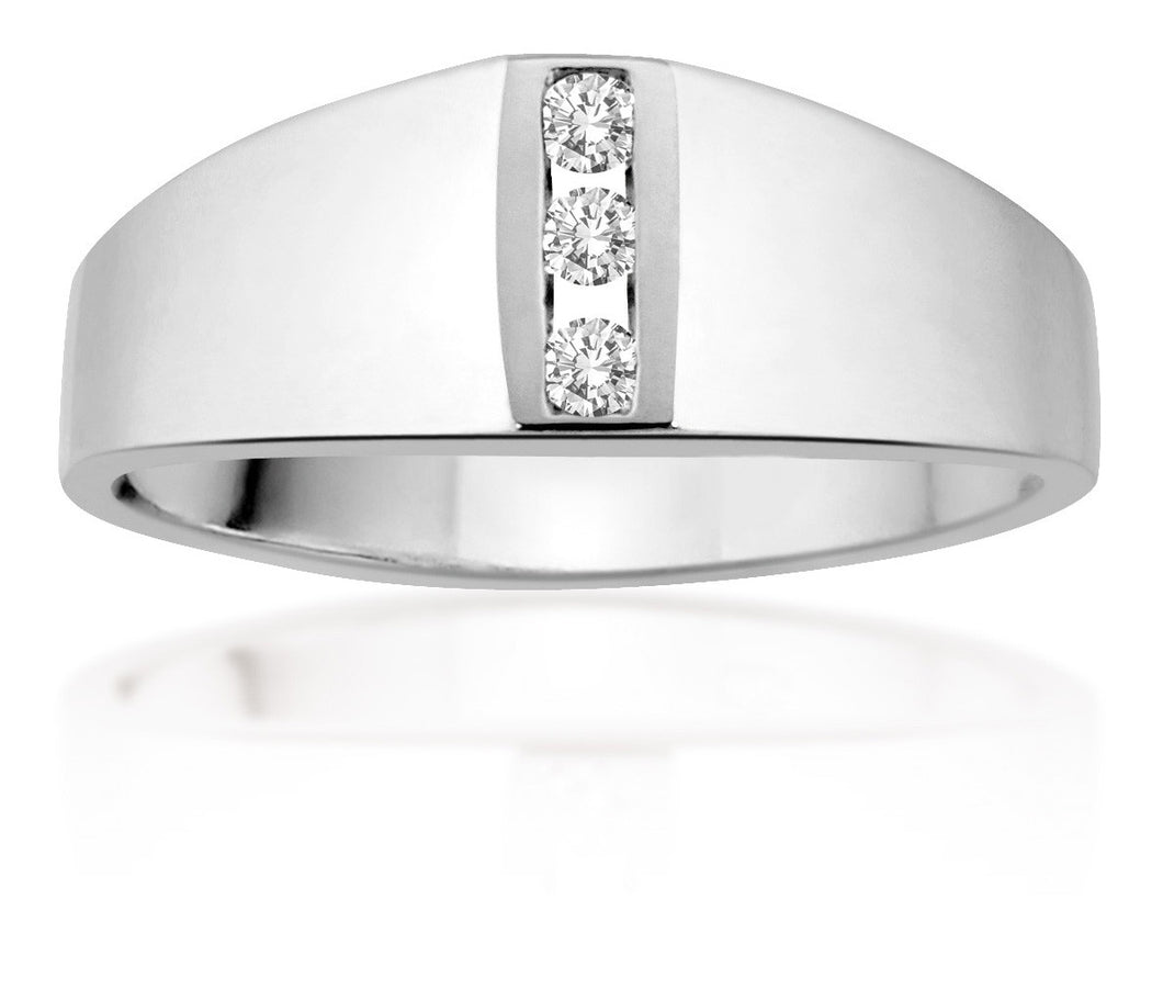 10Kt Ladies White Gold Diamond Ring