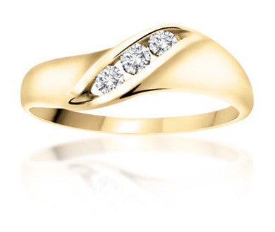 10Kt Ladies Yellow Gold Diamond Ring