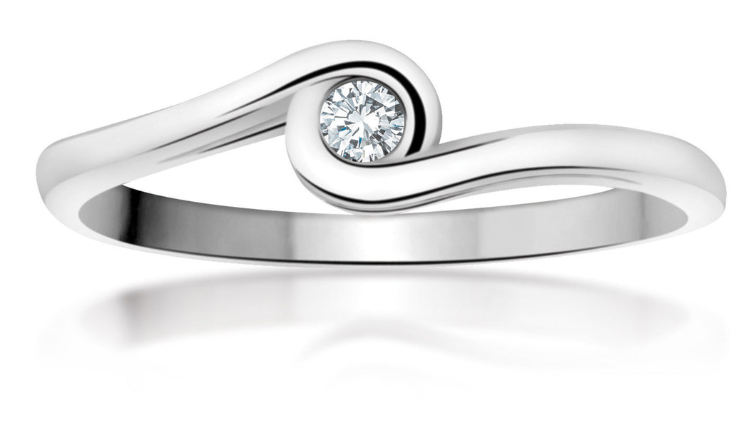 10Kt White Gold Ring