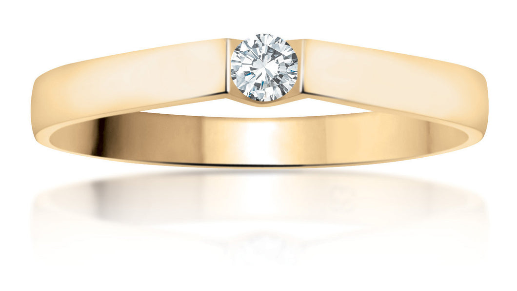 10Kt Yellow Gold Canadian Diamond Promise Ring