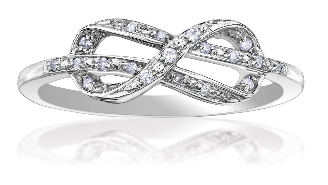 10kt Ladies White Gold Love Knot Ring