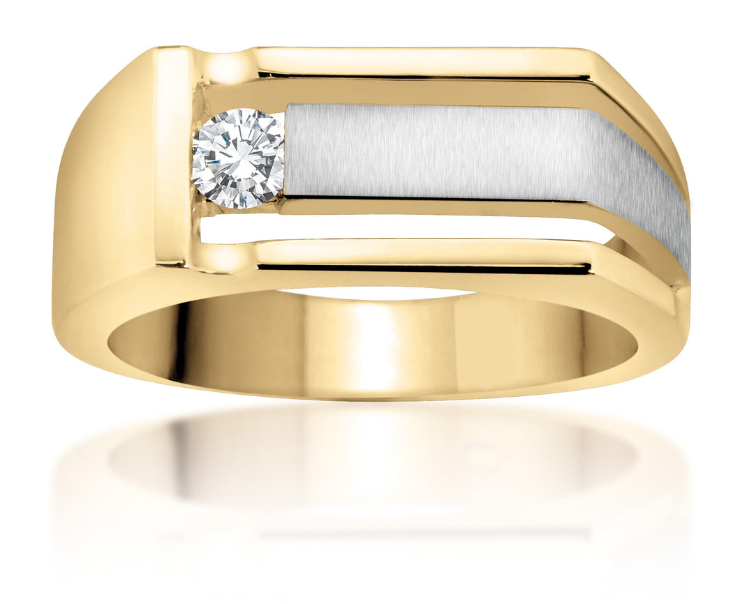 10Kt Yellow Gold Canadian Diamond Men's Ring