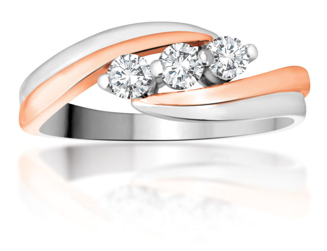 10Kt White and rose Gold Canadian Diamond Ring